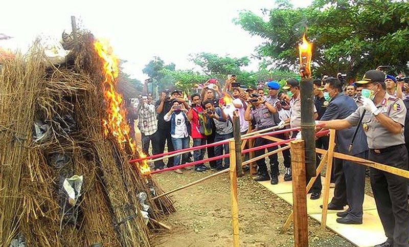 kapolri-pimpin-pembakaran-17-ton-dan-11997-batang-ganja-di-aceh