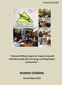 Book Cover: Rumah Cemara Annual Report 2015