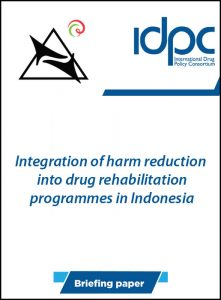 Book Cover: Integration of harm reduction  into drug rehabilitation programmes in Indonesia