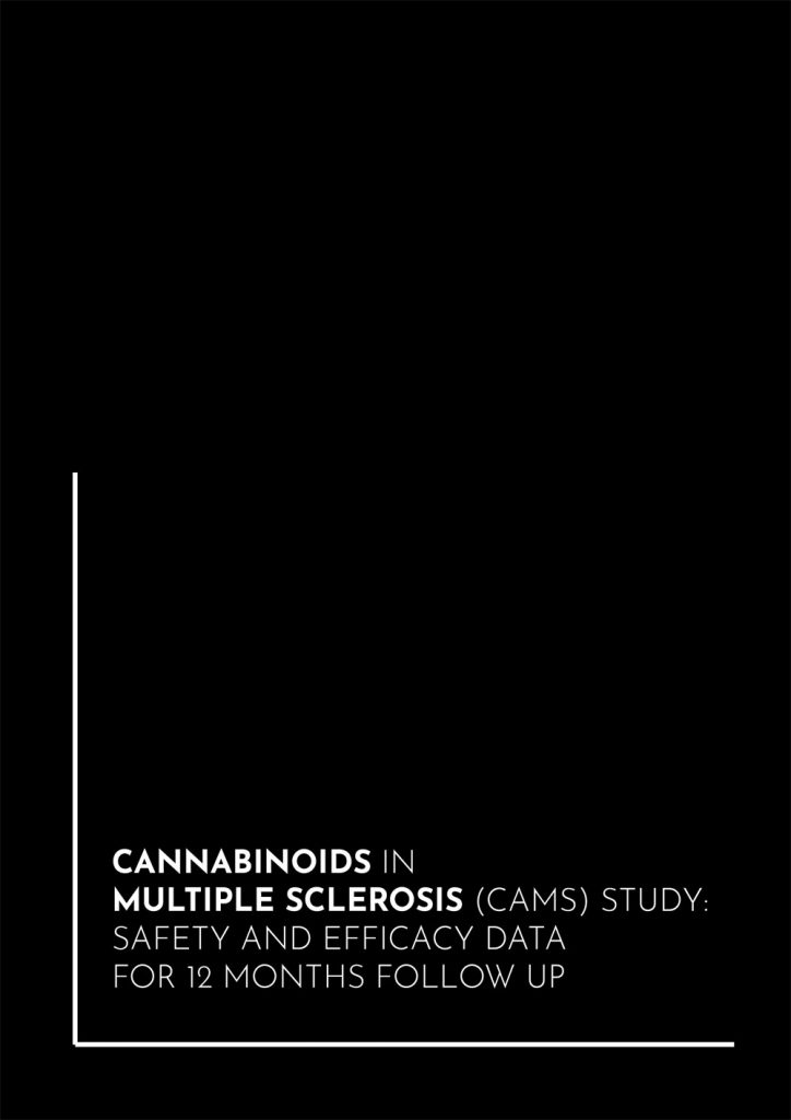 Book Cover: Cannabinoids in multiple sclerosis CAMS) study: safety and efficacy data for 12 months follow up