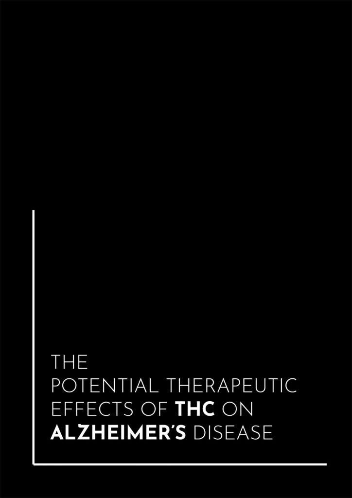Book Cover: The Potential Therapeutic Effects of THC on Alzheimer's Disease