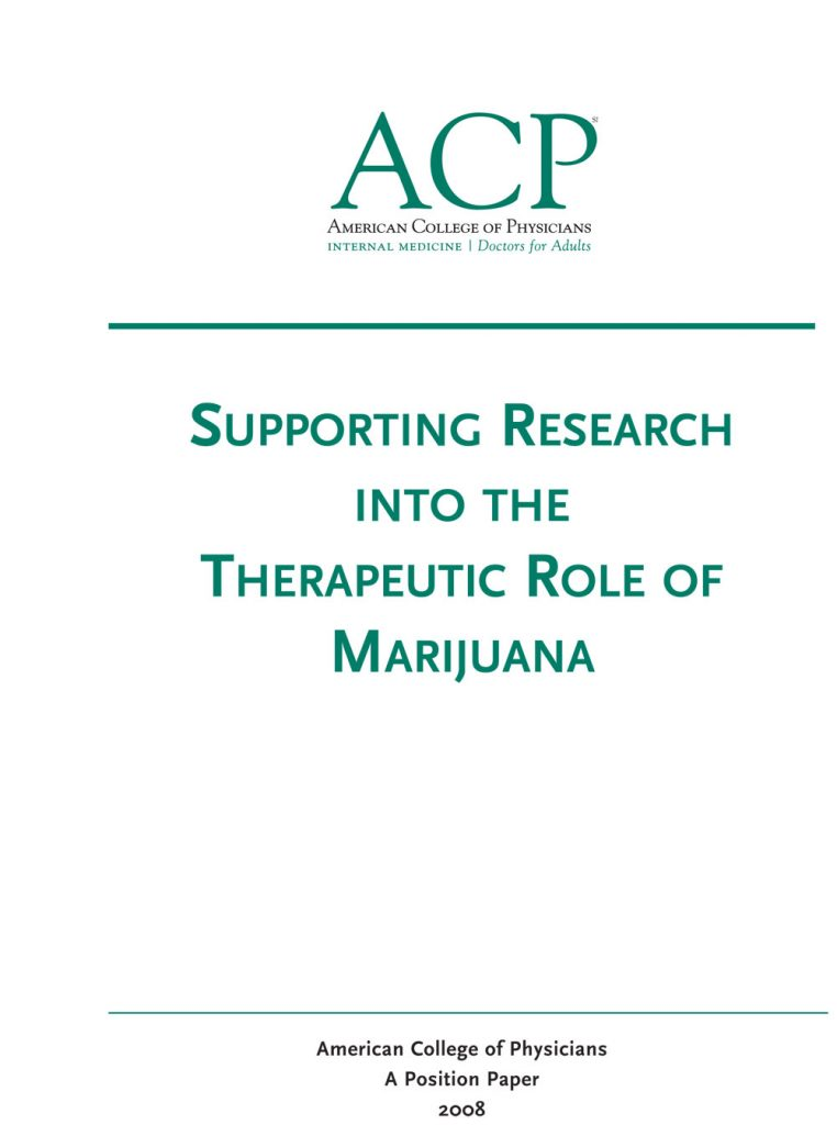 Book Cover: Supporting Research Into The Therapeutic Role Of Marijuana