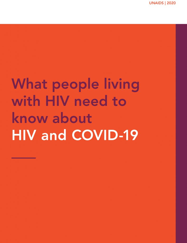 Book Cover: What people living with HIV need to know about HIV and COVID-19