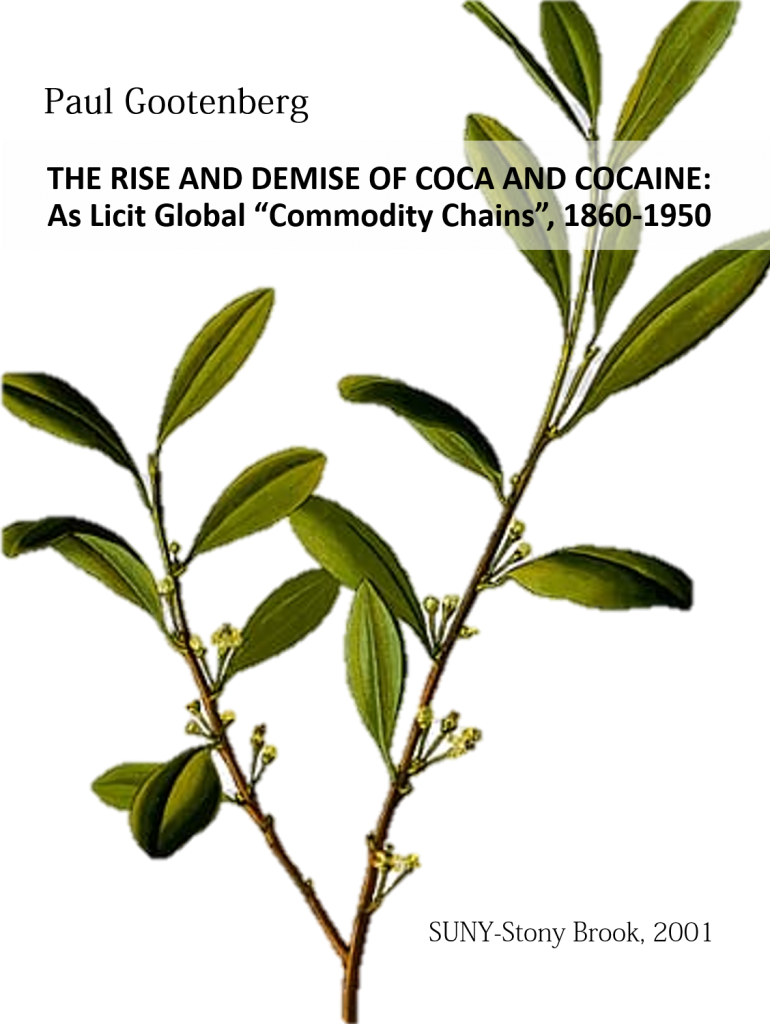 """Book Cover: The Rise and Demise of Coca and Cocaine: As Licit Global """"Commodity Chains"""", 1860-1950"""