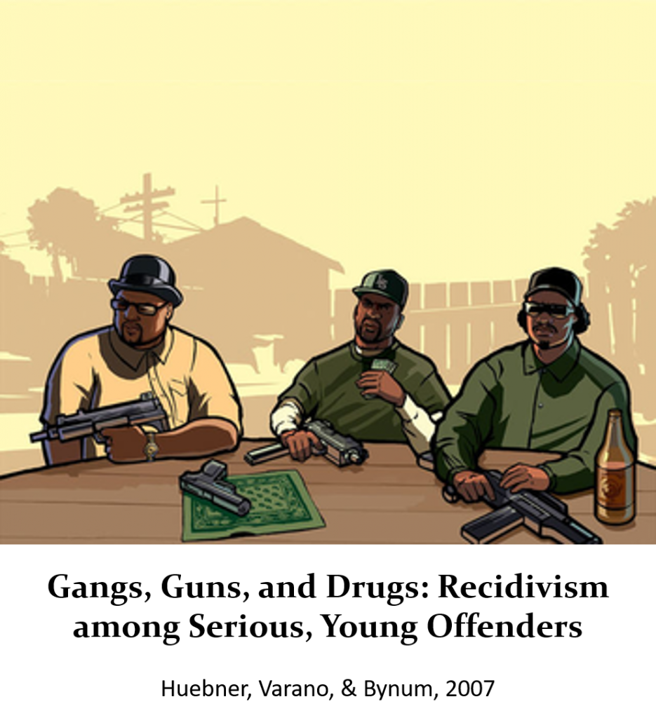 Book Cover: Gangs, Guns, and Drugs: Recidivism among Serious, Young Offenders