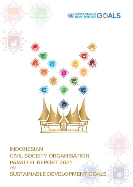 Book Cover: Indonesian Civil Society Organisation Parallel Report 2021 on SDGs
